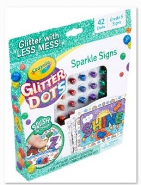 GLITTER DOTS SPARKLE SIGNS REFR