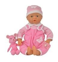 40cm Baby Doll with bear set.1P