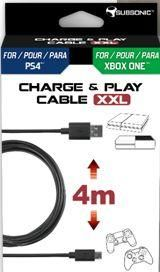 CHARGE PLAY CABLE XXL PS4,1P
